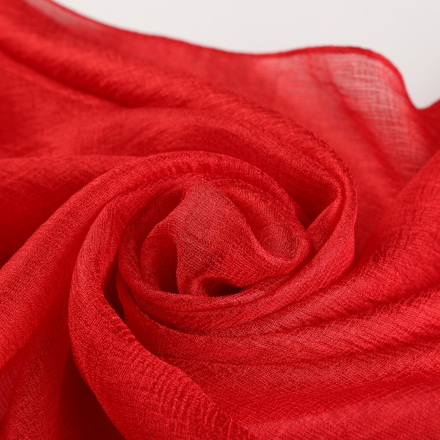 Extra Wide Flax Feel Scarf Solid Red Color FLX007 – Yangtze Store