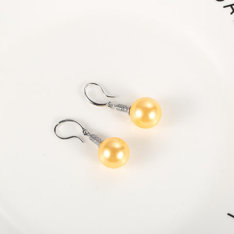 Yangtze Store Gold/Silver Pearl Earrings PEA105