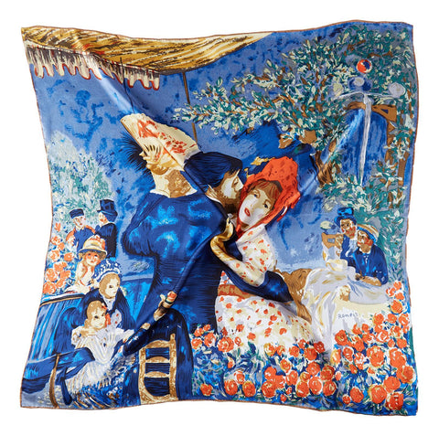 Yangtze Store Large Square Silk Scarf Classic Painting Dance SZD206