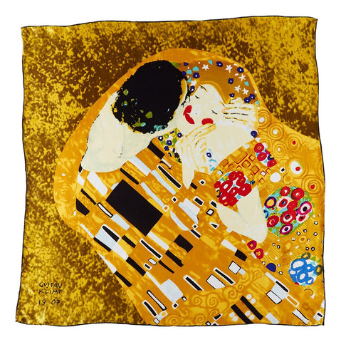 Yangtze Store Large Square Silk Scarf Classic Painting The Kiss by Klimt SZD205