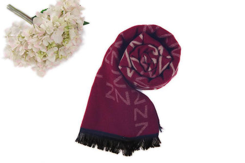 Yangtze Store Long Scarf for Fall/Winter Maroon Theme LL1001