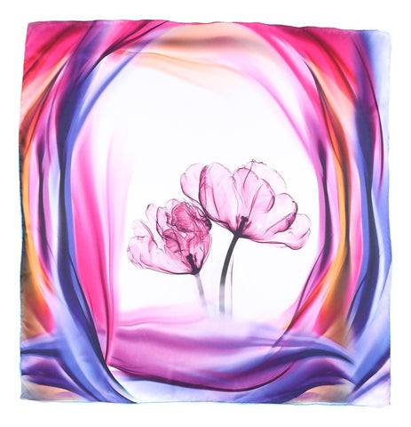 Yangtze Store Mid-Sized Square Charmeuse Silk Scarf Purple ZFD302