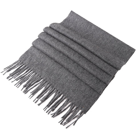 Yangtze Store Solid Color Woolen Scarf Gray WO4003
