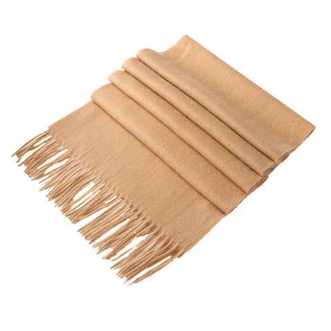 Yangtze Store Solid Color Woolen Scarf Light Brown WO4001