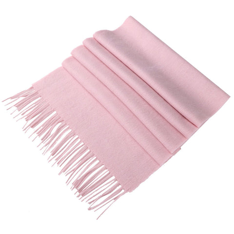 Yangtze Store Solid Color Woolen Scarf Pink WO4009