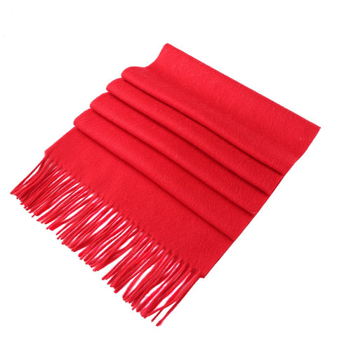 Yangtze Store Solid Color Woolen Scarf Red WO4002