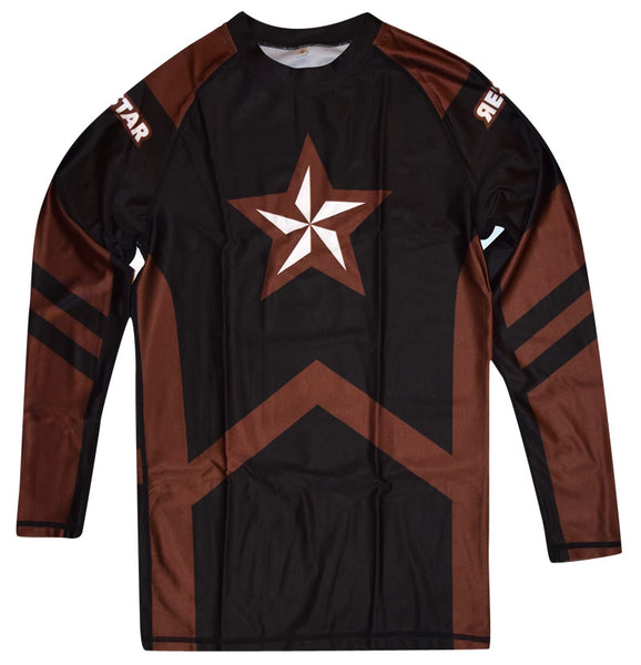 Rashguard Brown Belt Long Sleeve