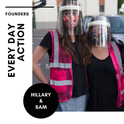Hillary Cohen and Samantha Luu, founders of Every Day Action