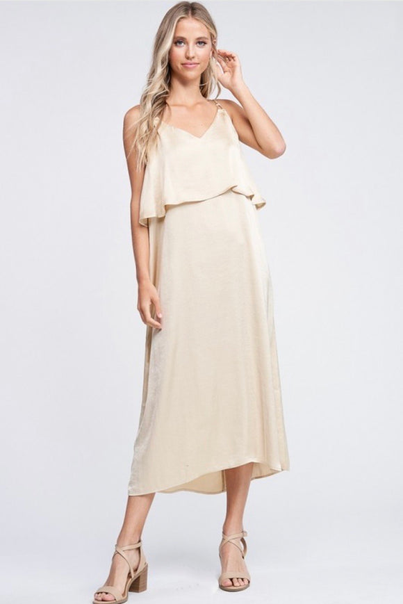 brunch dress midi satin silk maxi dress