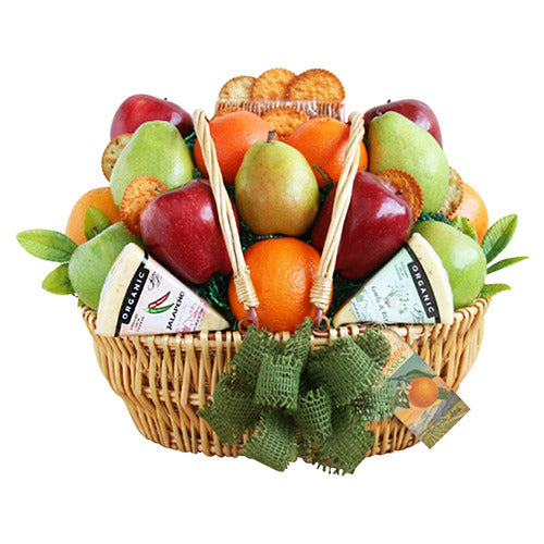 Farmers Market Organic Fruit & Cheese Gift Basket