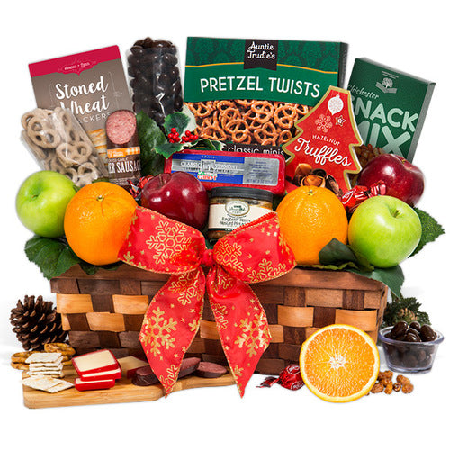 Christmas Fruit Gourmet Holiday Gift Basket