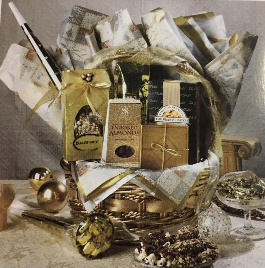 Gold & Silver Gift Basket