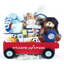 Deluxe Baby Boy Welcome Wagon-Personalized
