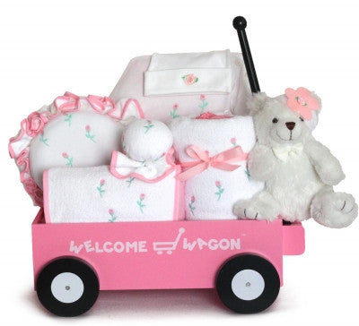 Deluxe Baby Girl Welcome Wagon-Personalized