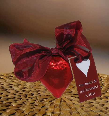 Chocolate Heart Gift (c) 2018 by Heartwarming Treasures®