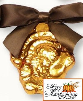 Gold Chocolate Turkey w/Tag (c) 2016 Heartwarming Treasures (R)