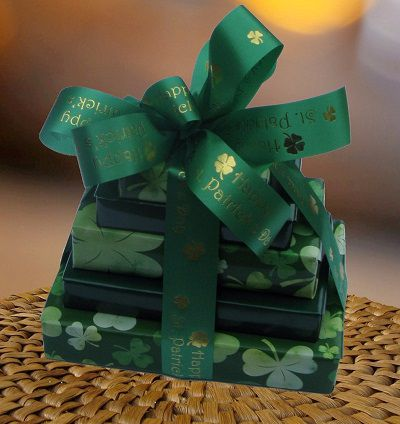 Happy St Patrick's Day 5 Tier Chocolate Tower (c) 2016 Heartwarming Treasures®