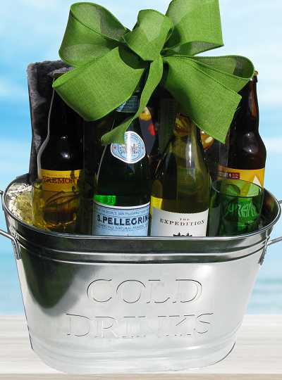 Patio Party Wine Beer Gift Basket (c) 2018 by Heartwarming Treasures®