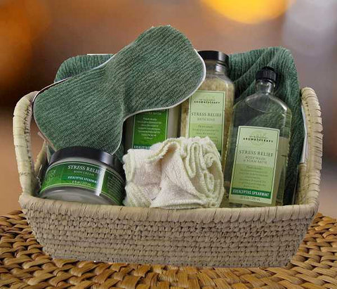 Relax and Renew Spa Stress Relief Basket (c) 2015 Heartwarming Treasures (R)