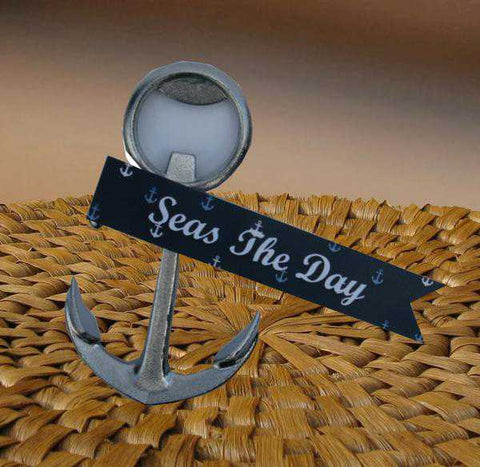 Seas The Day Anchor Bottle Opener (c) 2017 by Heartwarming Treasures(R)