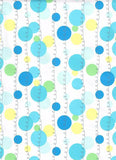 Gift wrap white background with blue poka dots