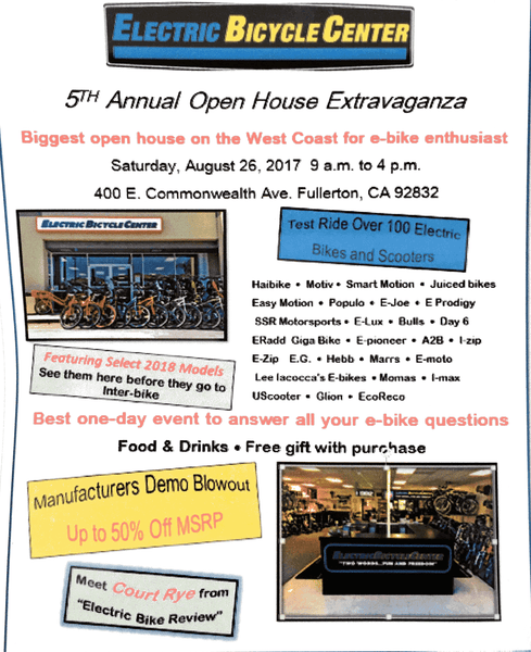 Test Ride and Populo Deals at Electric Bike Center's 5th Annual Open