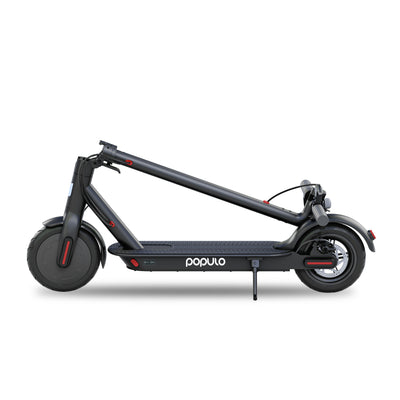 "Populo Electric Scooter - 8.5"" Pneumatic Tires - Up to 14.5 Miles & 15 MPH Portable Folding Commuting Scooter for Adults with Double Braking System. - Populo Bikes"