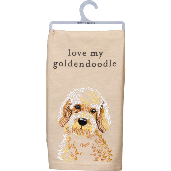 Dish Towel - Love My Goldendoodle