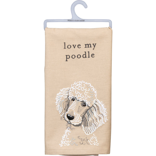 Dish Towel-Love My Poodle