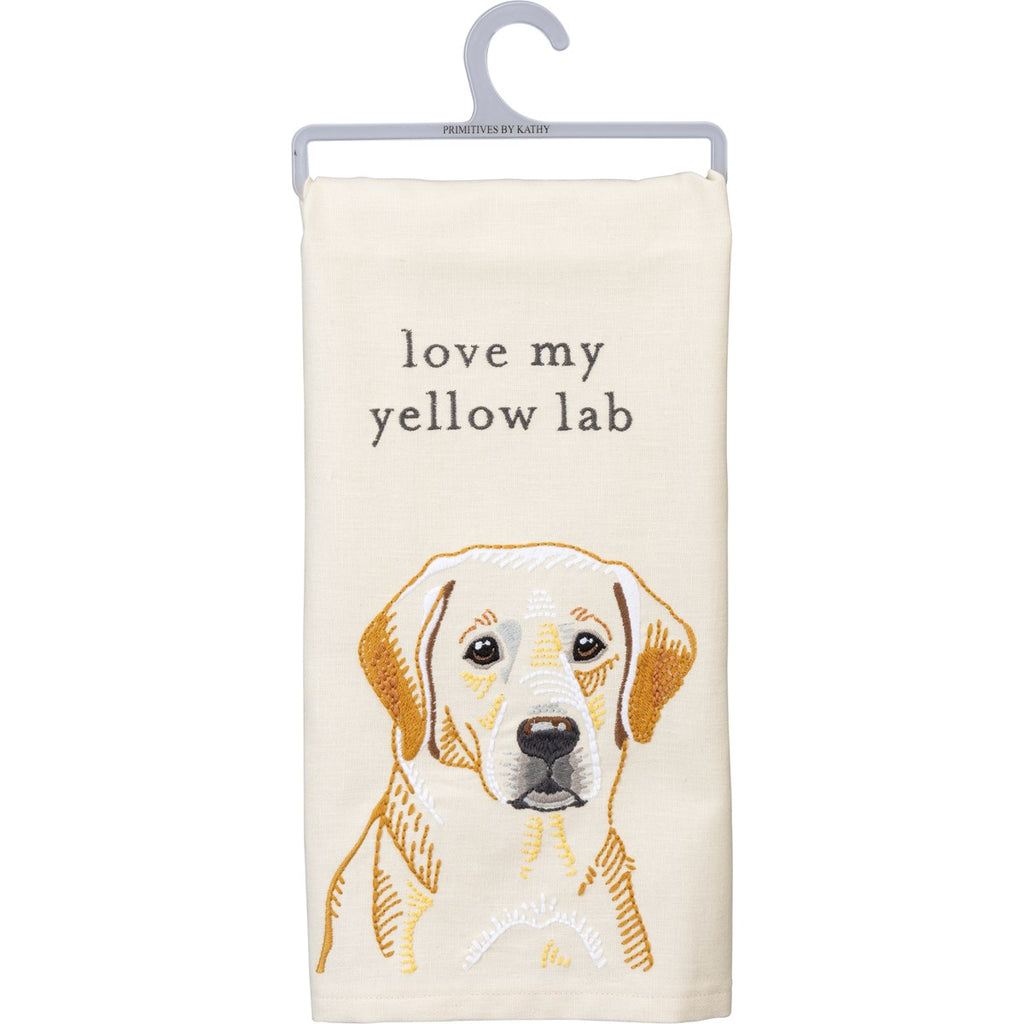 Dish Towel - Love My Yellow Lab