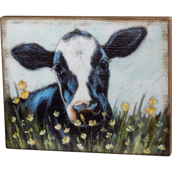 Box Sign - Cow