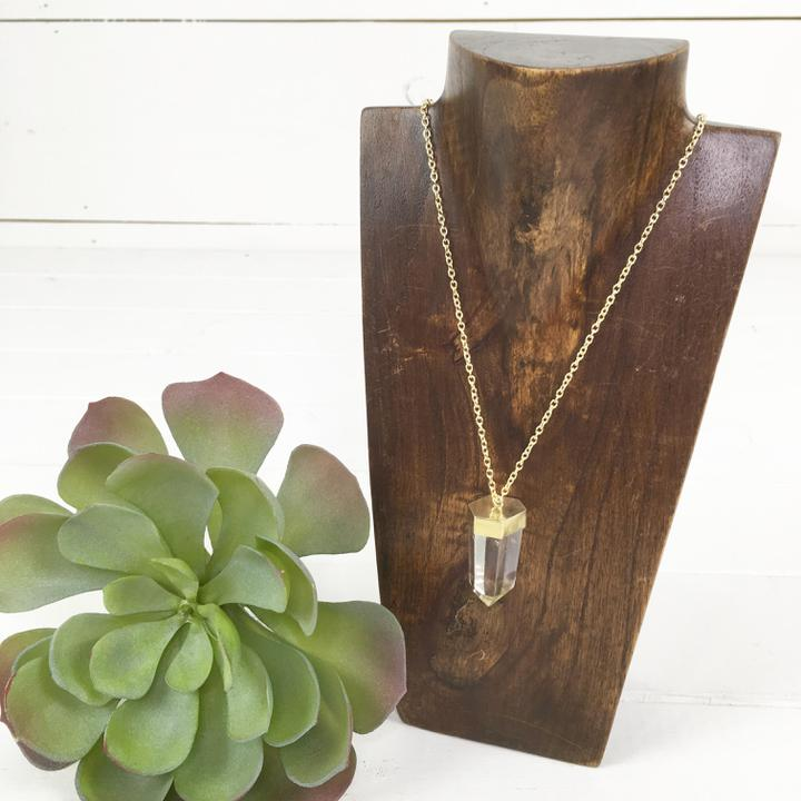 Gold Power Crystal Necklace