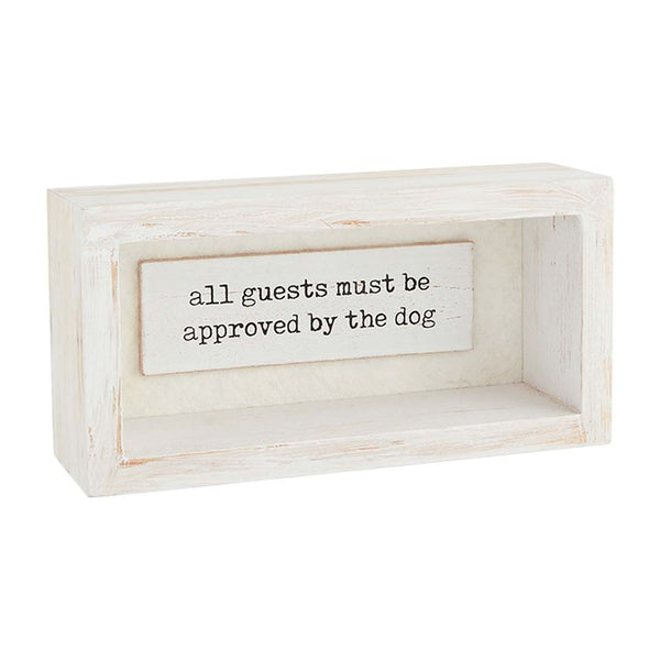 DOG SHADOW-BOX PLAQUES