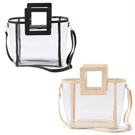Nude Clear Square Handle Tote