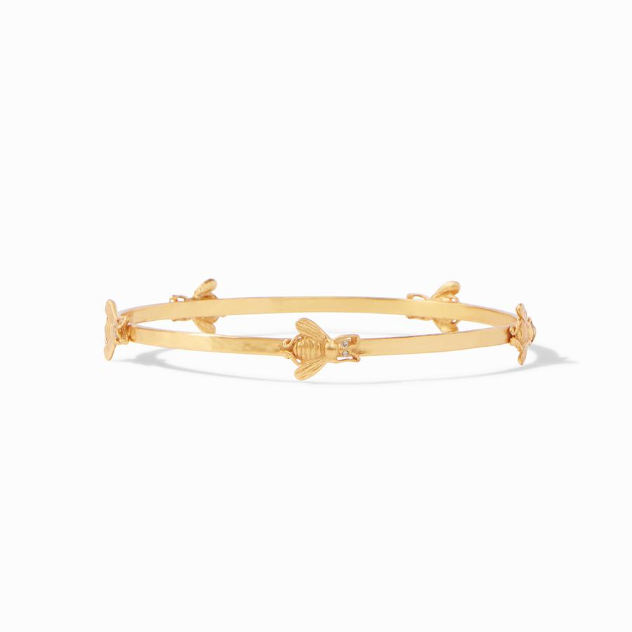 Bee bangle gold cz -medium