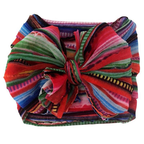 Ruffled Headband - Serape