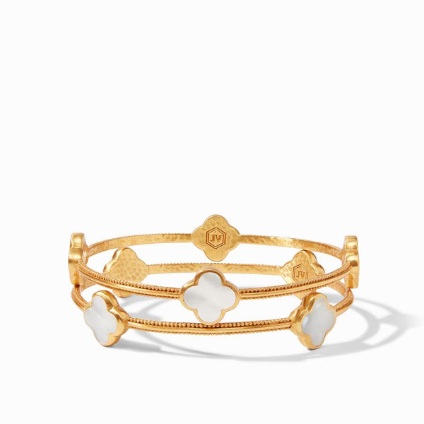 Chloe bangle gold mother of pearl medium