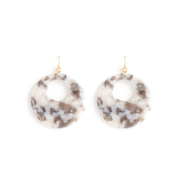 Marbled Bubble Circle Earrings