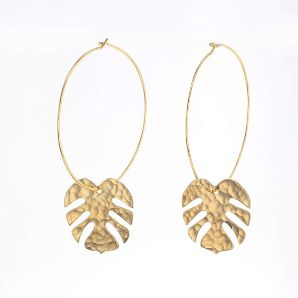 Gold tropics earrings