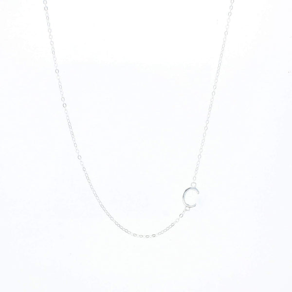 Balance Letter Necklace silver