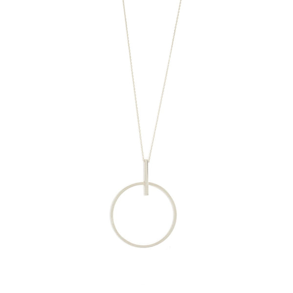 Etched open circle necklace