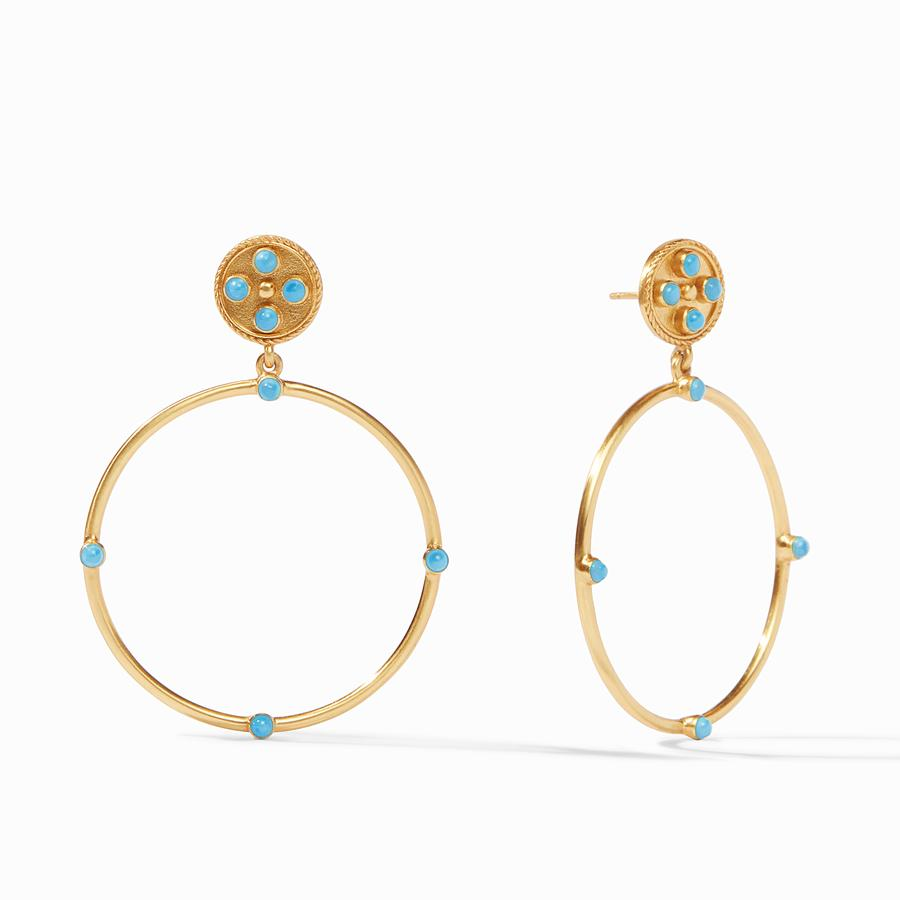 Paris Statement Earring Pacific Blue