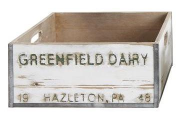 wood dairy boxes