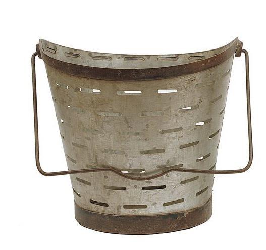 metal hanging olive buckets