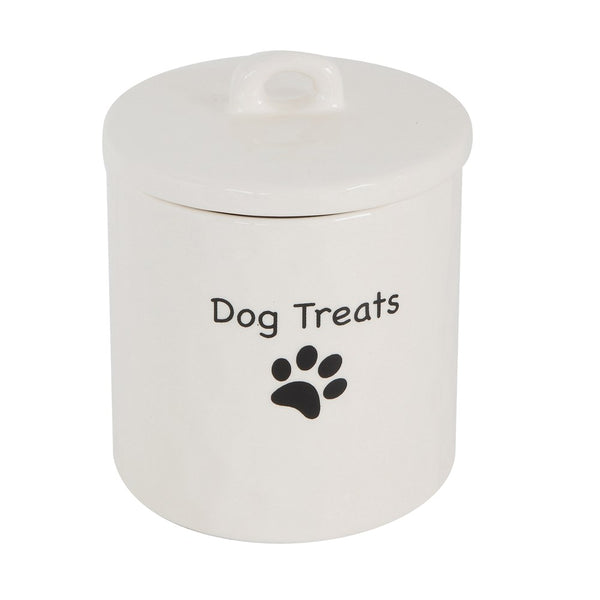 Stoneware Dog Treat Canister