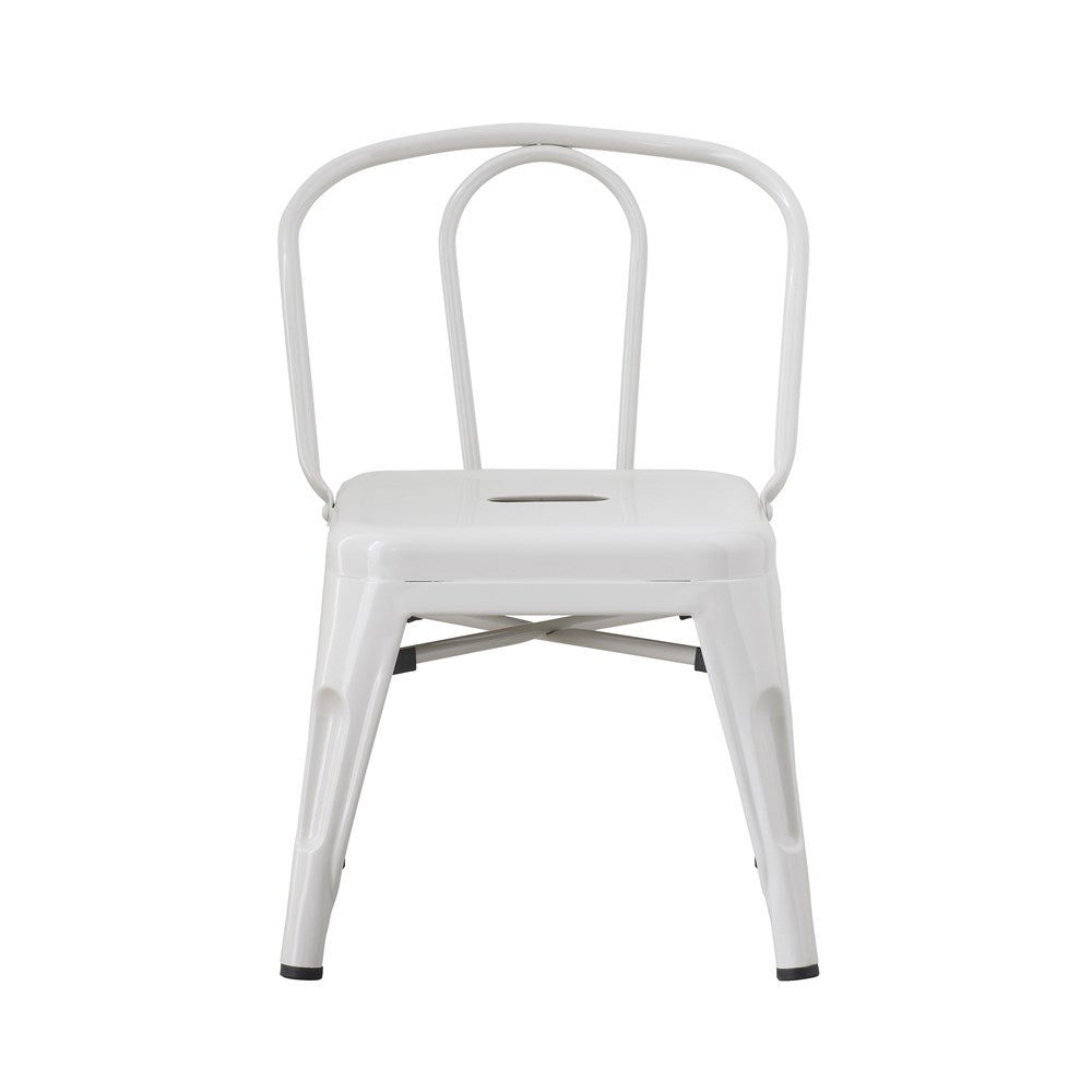 "Metal Chair, Grey, 14-1/2""L x 15""W x 21-3/4""H"