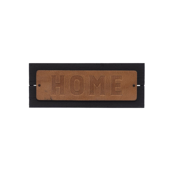Embossed Leather & Metal Wall Decor Home