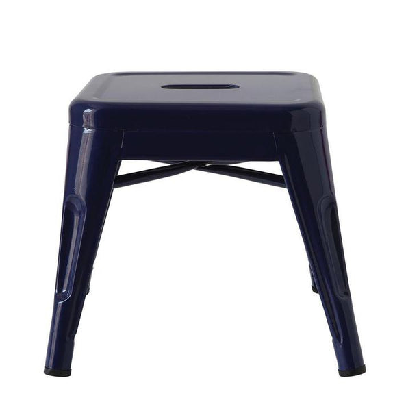 Metal Stool Dark Blue