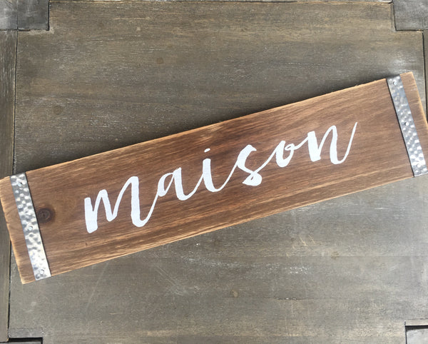 Bistro Metal and Wood Sign