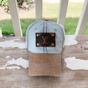 Lv Patch Hat light denim